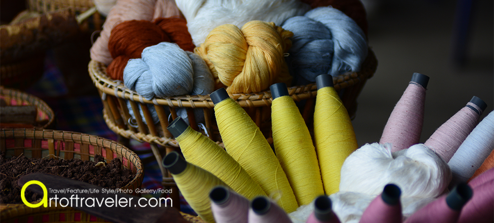 ผ้าภูอัคนี เส้นสีจากผืนดิน
